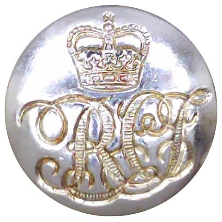 11th Hussars (Prince Albert's Own) (Indented Design) 22.5mm - Gold Colour with King's Crown. Anodised Staybrite military uniform