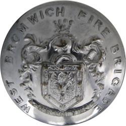West Bromwich Fire Brigade 23mm - 1966-1974  Chrome-plated Fire Service uniform button