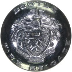 Bootle Fire Brigade (Liverpool) 25mm  Chrome-plated Fire Service uniform button