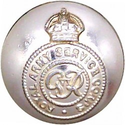 Royal Logistic Corps 25.5mm - Gold Colour with Queen Elizabeth's Crown. Anodised Staybrite military uniform button
