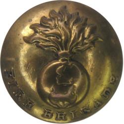 Birmingham Fire Brigade - Flaming Grenade - Rubbed 19.5mm - Pre-1941  Brass Fire Service uniform button