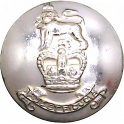 Royal Army Pay Corps 19mm - Gold Colour with Queen Elizabeth's Crown. Anodised Staybrite military uniform button