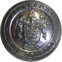 Blackpool Fire Brigade (Name On Circlet) 16.5mm  Chrome-plated Fire Service uniform button