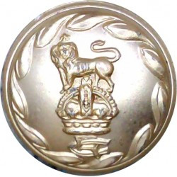 Gloucestershire Regiment 25.5mm - Gold Colour with King's Crown. Anodised Staybrite military uniform button