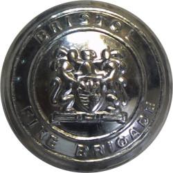 Bristol Fire Brigade 16.5mm  Chrome-plated Fire Service uniform button