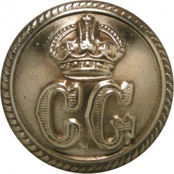 Coast Guard - Senior Officers - Roped Rim 24mm with King's Crown. Brass Civilian uniform button