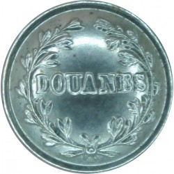 France: Customs - Douanes 15mm  Chrome-plated Civilian uniform button
