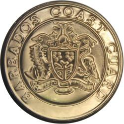 Barbados Coast Guard 19mm - Gold Colour  Anodised Civilian uniform button