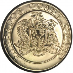 Barbados Coast Guard 25mm - Gold Colour  Anodised Civilian uniform button
