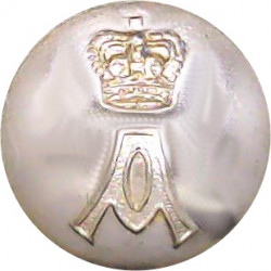 Queen's Own Cameron Highlanders 18.5mm - Gold Colour King's Crown. Anodised Staybrite military uniform button