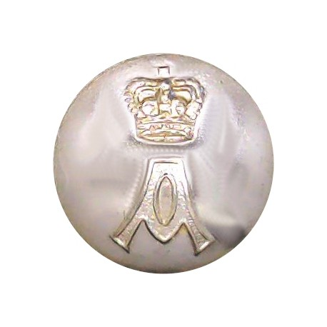 Queen's Own Cameron Highlanders 18.5mm - Gold Colour with King's Crown. Anodised Staybrite military uniform button
