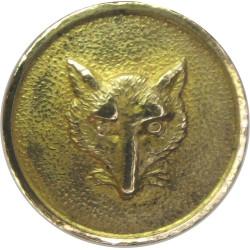 Aber Valley Hunt - Snowdonia - Wales 15mm - Fox Mask  Gilt Civilian uniform button
