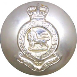St.Andrew's University Officers Training Corps 26mm - Gold Colour Queen's Crown. Anodised Staybrite military uniform button