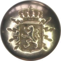 Belgian Telegraph Service 16mm  Brass Civilian uniform button