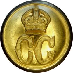 Coast Guard - Plain Rim 28.5mm with King's Crown. Brass Civilian uniform button