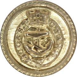 Coast Guard Officers - Roped Rim 15mm - Pre-1901 with Queen Victoria's Crown. Gilt Civilian uniform button