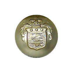 Mons Officer Cadet School (merged With RMAS In 1972) 19mm - Gold Colour with Queen Elizabeth's Crown. Anodised Staybrite militar