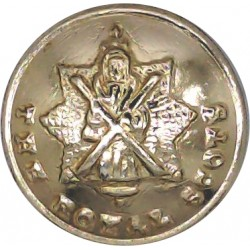 Royal Tank Regiment 26mm - Gold Colour Queen's Crown. Anodised Staybrite military uniform button