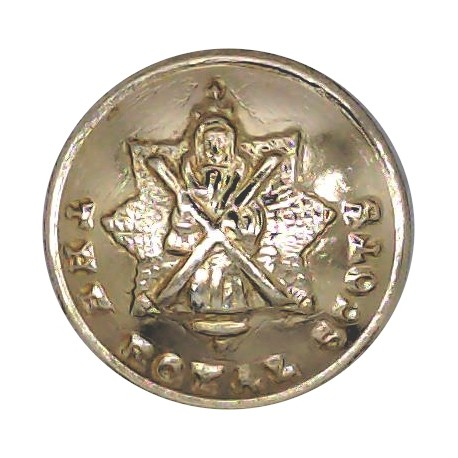 Royal Tank Regiment 26mm - Gold Colour with Queen Elizabeth's Crown. Anodised Staybrite military uniform button