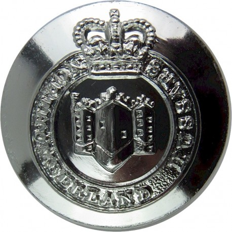 Northumberland Hussars 25mm Silver Colour with Queen Elizabeth's Crown. Anodised Staybrite military uniform button