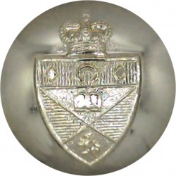 St.Andrew's University Officers Training Corps 26mm - Gold Colour with Queen Elizabeth's Crown. Anodised Staybrite military unif