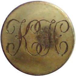 Kilkenny Hunt (Ireland) 14mm Flat Engraved  Gilt Civilian uniform button