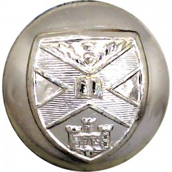 Edinburgh University Officers' Training Corps 25.5mm - Gold Colour  Anodised Staybrite military uniform button