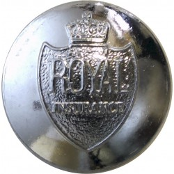 Royal Insurance Company Limited - With Wording 25mm  Chrome-plated Civilian uniform button