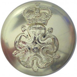 Yorkshire Volunteers 25.5mm - Gold Colour with Queen Elizabeth's Crown. Anodised Staybrite military uniform button