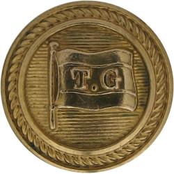Thomson & Gray Ltd (Glasgow) - Shipping Button 16mm - Roped Rim  Gilt Merchant Navy or Shipping uniform button