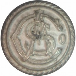 Adelaide Steamship Co - Australian Shipping Button 16.5mm - Roped Rim  Silver-plated Merchant Navy or Shipping uniform button