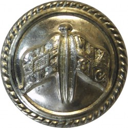 New Zealand & Federal Steam Navigation Co - Roped 18.5mm - Cabin Staff  Silver-plated Merchant Navy or Shipping uniform button
