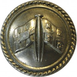 New Zealand & Federal Steam Navigation Co - Roped 21mm - Cabin Staff  Silver-plated Merchant Navy or Shipping uniform button