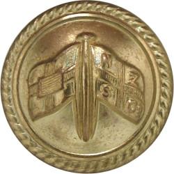 New Zealand & Federal Steam Navigation Co - Roped 22.5mm - Officers  Gilt Merchant Navy or Shipping uniform button