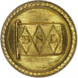 Bucknall Shipping Line - Lined Background - Roped 20.5mm - Pre-1914  Gilt Merchant Navy or Shipping uniform button