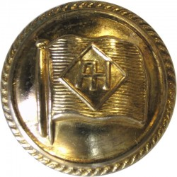 Alfred Holt Blue Funnel Line - Shipping Button 23mm - Roped Rim  Gilt Merchant Navy or Shipping uniform button