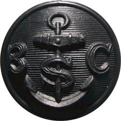 Bembridge Sailing Club (Isle Of Wight) 22mm - Black  Plastic Yacht or Boat Club jacket button