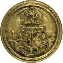 Royal London Yacht Club - Gothic Lettering 15.5mm with King's Crown. Gilt Yacht or Boat Club jacket button