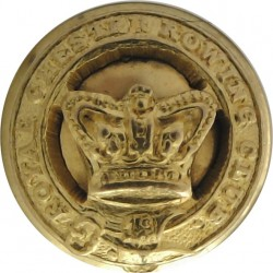 Royal Chester Rowing Club 14.5mm Mounted Dome with Queen Victoria's Crown. Gilt Yacht or Boat Club jacket button