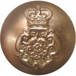 Intelligence Corps 19.5mm - Gold Colour with Queen Elizabeth's Crown. Anodised Staybrite military uniform button