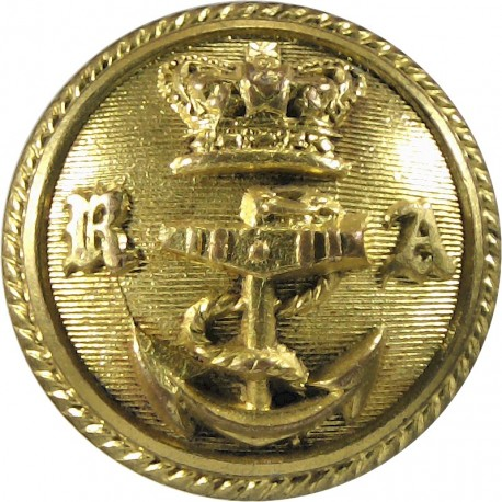 Royal Albert Yacht Club 24.5mm - Pre-1901 with Queen Victoria's Crown. Gilt Yacht or Boat Club jacket button