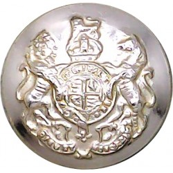 Royal Hussars (Prince Of Wales's Own) - Indented 23mm - Gold Colour  Anodised Staybrite military uniform button