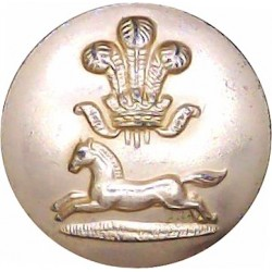 Grenadier Guards 26.5mm - Gold Colour with Queen Elizabeth's Crown. Anodised Staybrite military uniform button