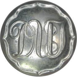 Dublin United Tramways 25.5mm - 1891-1945  White Metal Transport uniform button