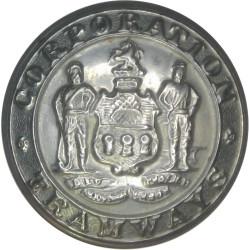 Sheffield Tramways 25mm - 1896-1960  White Metal Transport uniform button