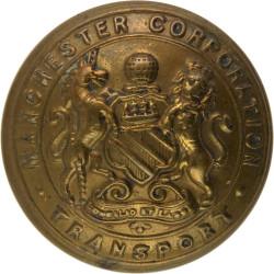 Manchester Corporation Transport 24mm - Pre-1946  Brass Transport uniform button