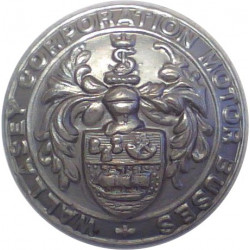 Wallasey Corporation Motor Buses 25.5mm  Chrome-plated Transport uniform button