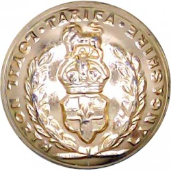 Royal Regiment Of Fusiliers 19.5mm - Gold Colour with Queen Elizabeth's Crown. Anodised Staybrite military uniform button
