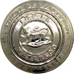 West Yorkshire Regiment (The Prince Of Wales's Own) 25.5mm - Gold Colour  Anodised Staybrite military uniform button