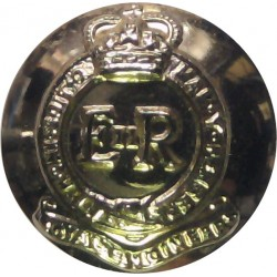 King's Own Scottish Borderers - Pipers 26mm Silver Colour with King's Crown. Anodised Staybrite military uniform button